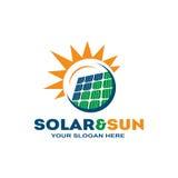 Logo solaire élégant Photo stock