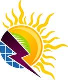 Logo solaire de concept Photo libre de droits