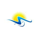 Logo soleggiato di vettore del pesce Fotografia Stock