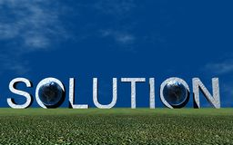 Logo Solution. 3D Presentation Business Logo Solution