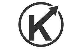 Logo Solution Letter moderne K Photos libres de droits