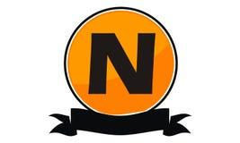 Logo Solution Letter moderne N Photographie stock libre de droits