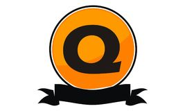 Logo Solution Letter moderne Q Photo stock