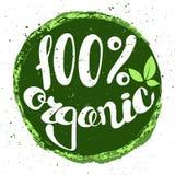 Logo 100% som är organisk med sidor Royaltyfri Foto