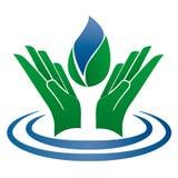 Logo som symboliserar vattnet och naturen Royaltyfria Bilder