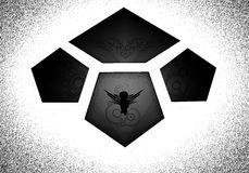 Logo sous forme de tuiles Photo stock