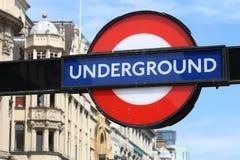 Logo souterrain à Londres Image libre de droits