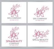 Logo spa company Royalty Free Stock Photos