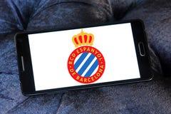 Espanyol soccer club logo. Logo of spanish Espanyol soccer club on samsung mobile Royalty Free Stock Photos
