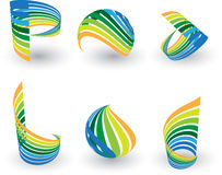 logo spirala Zdjęcia Stock