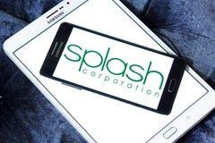 Splash Corporation logo. Logo of Splash Corporation on samsung mobile. Splash Corporation is a Filipino personal care and food company Royalty Free Stock Image