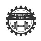 Logo for sport athletic club. Vector set sport emblems. Logo badges and labels, Athletic club icon Royalty Free Stock Photo
