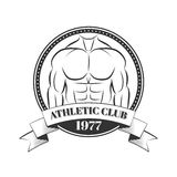 Logo for sport athletic club. Vector set sport emblems. Logo badges and labels, Athletic club icon Stock Image