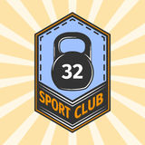 Logo for sport athletic club. Vector set sport emblems. Logo badges and labels, Sport club icon Royalty Free Stock Images