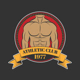 Logo for sport athletic club. Vector set sport emblems. Logo badges and labels, Athletic club icon Royalty Free Stock Photography
