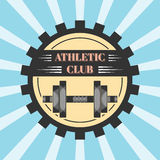 Logo for sport athletic club. Vector set sport emblems. Logo badges and labels, Athletic club icon Stock Photo