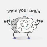 Logo of sport brain Royalty Free Stock Photos