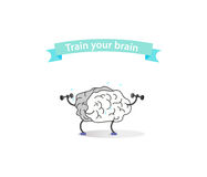 Logo of sport brain with a ribbon Stock Photography