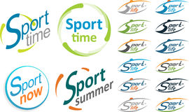 Logo sport. Sport time, sport now, sport summer. Stock Photo