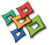 Logo squares Stock Images
