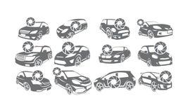 Logo stabilito delle collezioni di fotografia dell'automobile illustrazione di stock