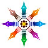 logo stalówki ilustracja wektor