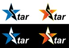 Logo star. Vector stars. Logo for your company Royalty Free Stock Image