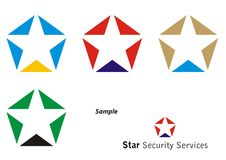 Logo Star Royalty Free Stock Photography
