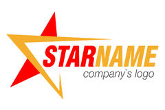 Logo star abstract company. Vector illustration Stock Photos
