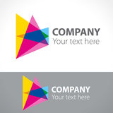 Logo star, color triangles. Vector illustration Royalty Free Stock Photos