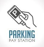 Logo - stazione di paga di parcheggio illustrazione vettoriale
