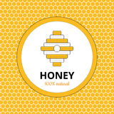 Logo, sticker for honey brand, apiary Stock Photography