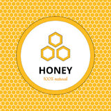 Logo, sticker for honey brand, apiary Royalty Free Stock Photography