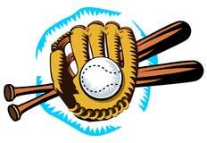 Logo style emblem of baseball things Stock Images