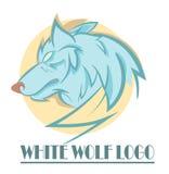 Logo stylisé de tête de loup Photographie stock