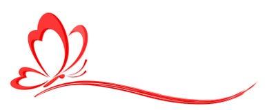 Logo stylized butterfly. A logo of the stylized red butterfly stock illustration