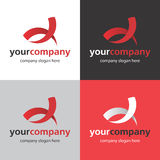 Logo bend. Logo with a stylized red letter A Royalty Free Stock Photo