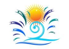 Logo summer. Stock Photos