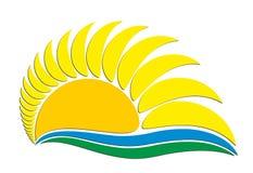 Logo sun. Royalty Free Stock Photography