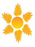 Logo sun Stock Photography