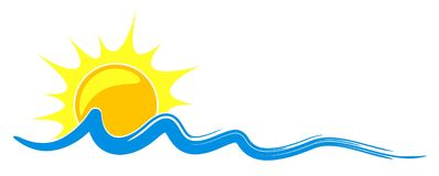 Logo sun and sea. Royalty Free Stock Image