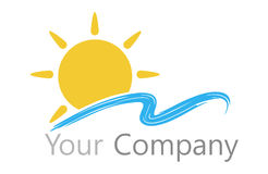 Logo sun and water Stock Photography