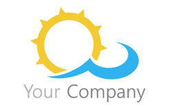 Logo sun and water Royalty Free Stock Photos