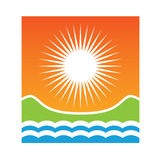 Logo Sunny coast Stock Image