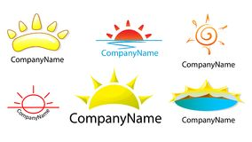 Logo suns Royalty Free Stock Photos