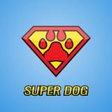 Logo Super Hero Dog Lizenzfreie Stockfotografie