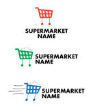 Logo for supermarket and mall stock photography