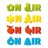 Logo sur l'air illustration stock
