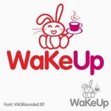 Logo sveglio del coniglietto Fotografie Stock