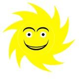 Logo sveglio del sole Fotografia Stock
